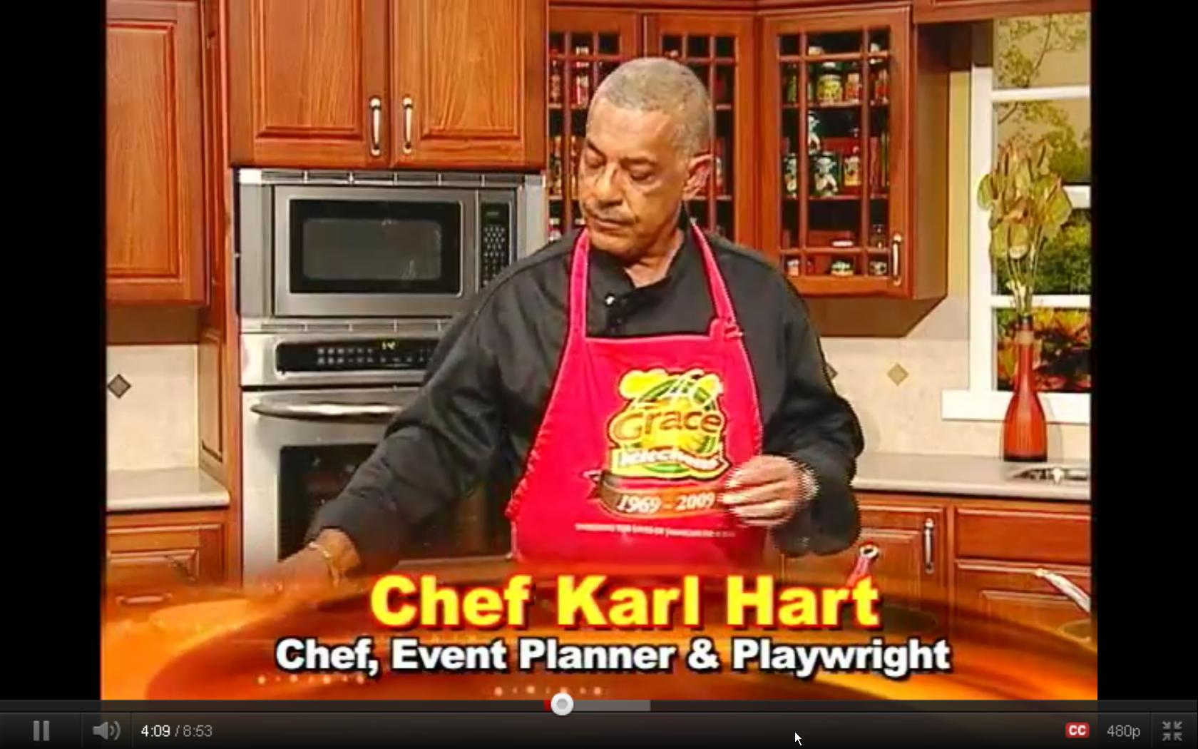 Grace Foods Creative Cooking Chef Series with Karl Hart – Chicken Florentine